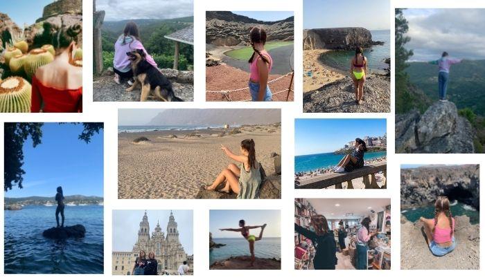 Collage de fotos de turismo